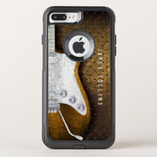 Cool Metal Grunge Electric Guitar Personalized OtterBox Commuter iPhone 8 Plus/7 Plus Case