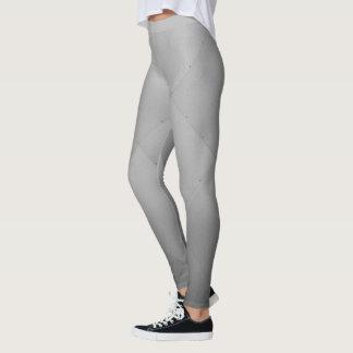 Cool Metallic Aluminum Plates Gray Leggings