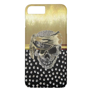 Cool Metallic Gold Skull Design Case