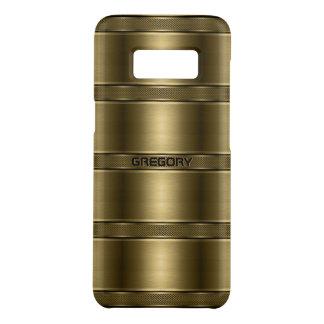 Cool Metallic Gold Stripes Pattern Case-Mate Samsung Galaxy S8 Case