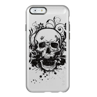Cool Metallic Sketch Skull Swirl Flowers Manly Incipio Feather® Shine iPhone 6 Case