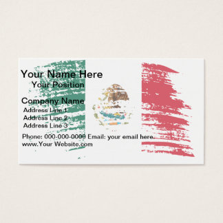 Cool Mexican flag design Business Card