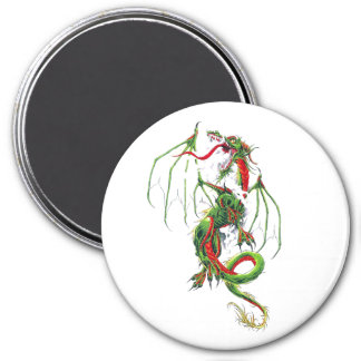 Cool Middle Age Green dragon Magnet