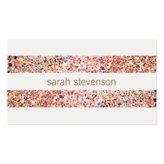 Cool mignon de sembler coloré de scintillement de cartes de visite professionnelles