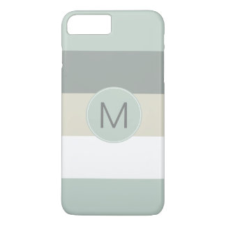 Cool Minimalist Stripes Pattern with Any Monogram iPhone 8 Plus/7 Plus Case