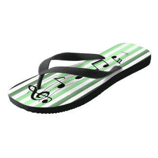 Cool Mint ~ G-Clef & Notes ~ Music ~Party ~Ocean ~ Flip Flops