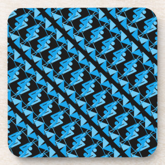 Cool Mirrored Geometric & Abstract Pattern Coaster