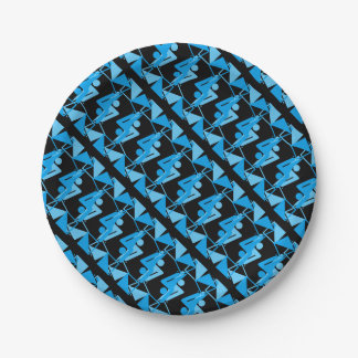 Cool Mirrored Geometric & Abstract Pattern Paper Plate