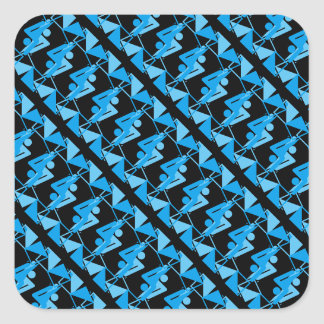 Cool Mirrored Geometric & Abstract Pattern Square Sticker