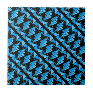 Cool Mirrored Geometric & Abstract Pattern Tile