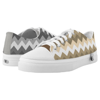 Cool Mismatched Zigzags Low-Top Sneakers