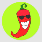 Cool Mister Red Hot Pepper Classic Round Sticker