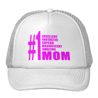 Cool Modern #1 Moms : Number One Mom Mesh Hats