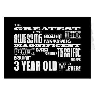 Cool Modern 3rd Birthdays : Greatest 3 Year Old Greeting Card