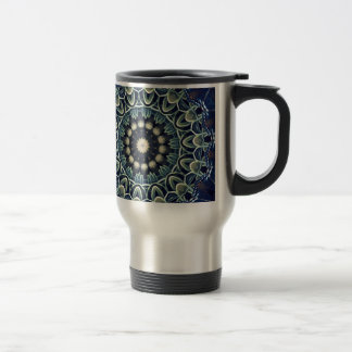 Cool Modern Artistic Lacey Mandala Travel Mug