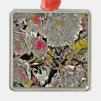 Cool Modern Artistic Photomanipulation Silver-Colored Square Ornament