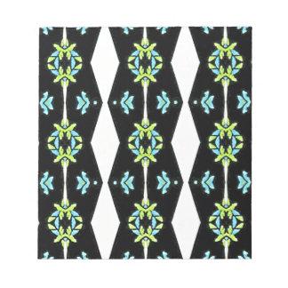 Cool Modern Black White Teal Pattern Notepad