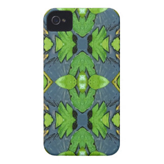 Cool Modern Blue Green Tribal Pattern iPhone 4 Case-Mate Cases
