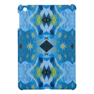 Cool Modern Blues Lime Starry pattern iPad Mini Covers