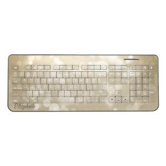 Cool ,Modern, Bokeh  -Personalized Wireless Keyboard