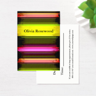Cool Modern Bright Neon Colors Business Card