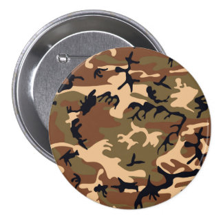 Cool Modern Camouflage Camo Design 3 Inch Round Button