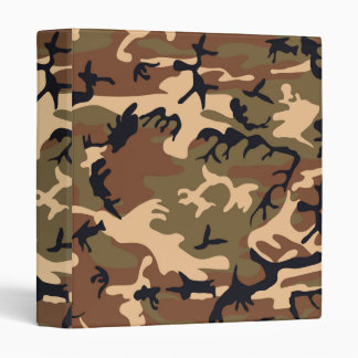 Cool Modern Camouflage Camo Design 3 Ring Binder