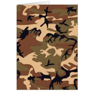 Cool Modern Camouflage Camo Design Card
