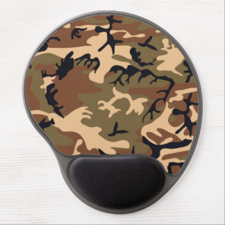 Cool Modern Camouflage Camo Design Gel Mouse Pad