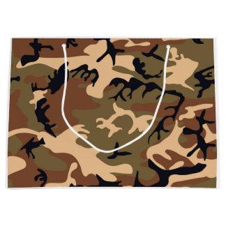 Cool Modern Camouflage Camo Design Large Gift Bag