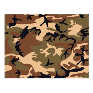 Cool Modern Camouflage Camo Design Postcard