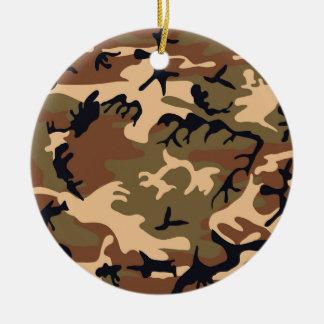 Cool Modern Camouflage Camo Design Round Ceramic Ornament