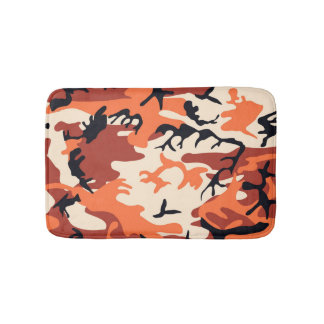 Cool Modern Camouflage Design Bath Mat