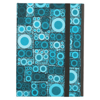 Cool Modern Circles Blue Teal Mosaic Tile Pattern Cover For iPad Air