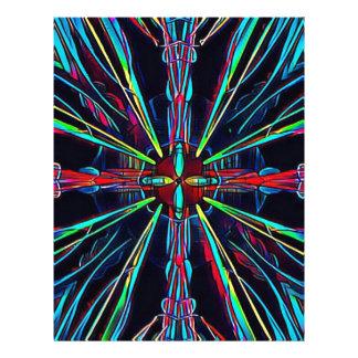 Cool Modern Colorful Neon Pattern Letterhead
