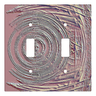 Cool Modern Dusty Rose Textured Pattern Light Switch Cover