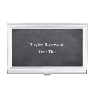 Cool Modern Faux Chalkboard Business Card Holder