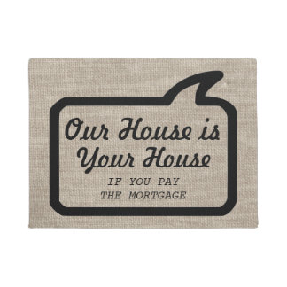 Cool Modern Funny Hilariously Rude Doormat