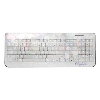 Cool Modern Girly-Personalized Wireless Keyboard