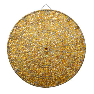 COOL MODERN GOLD WITH GLITTER DARTBOARD WITH DARTS