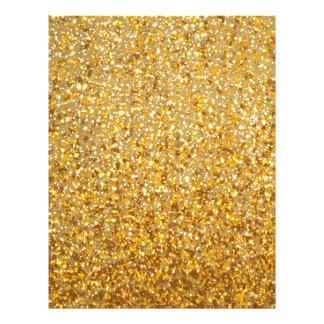 COOL MODERN GOLD WITH GLITTER LETTERHEAD