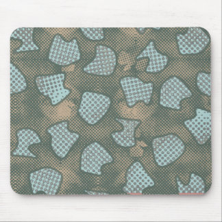 COOL MODERN GRUNGE CAMOUFLAGE MOUSE PAD