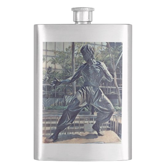 Cool Modern Karate Kid Flask