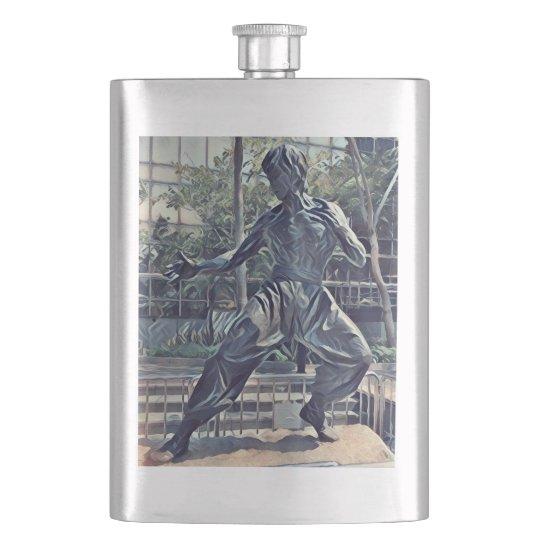 Cool Modern Karate Kid Hip Flask