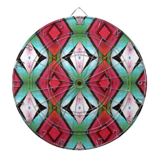 Cool Modern Magenta Teal  Pattern Dartboard