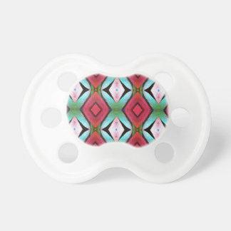 Cool Modern Magenta Teal  Pattern Pacifier
