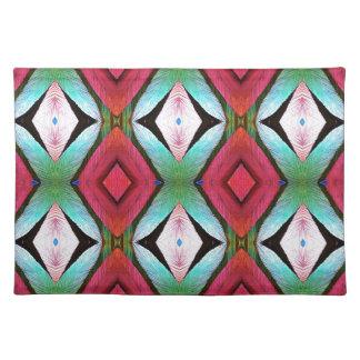 Cool Modern Magenta Teal  Pattern Placemat