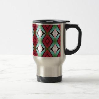 Cool Modern Magenta Teal  Pattern Travel Mug