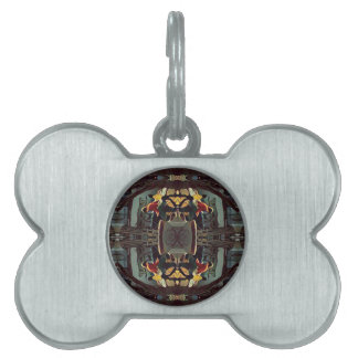 Cool Modern Masculine Hip Pattern Pet Name Tag