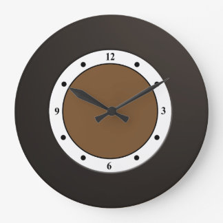 Cool Modern Metallic Black Frame on any Color Wall Clocks